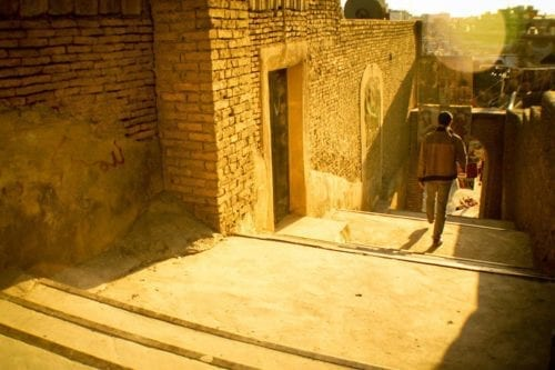 """Vista de las escaleras que conducen al Castillo (""""Qalaat"""") de la ciudadela de Erbil. (Flickr: Mustafa Khayat)"""