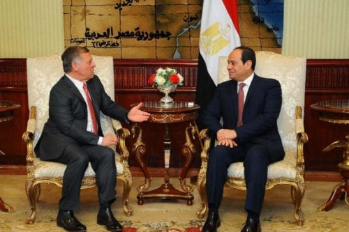 El rey de Jordania visita Egipto