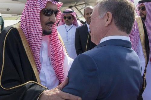 El rey Salmán de Arabia Saudí visita Jordania