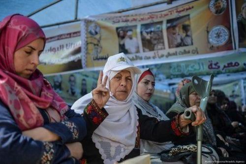 Gaza: Manifestaciones de apoyo a los presos en huelga de…