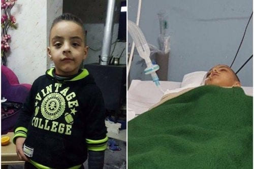 Un niño palestino de 7 años es hospitalizado por los…