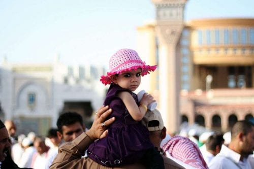 Celebración del fin de Ramadán en la Mezquita del Profeta