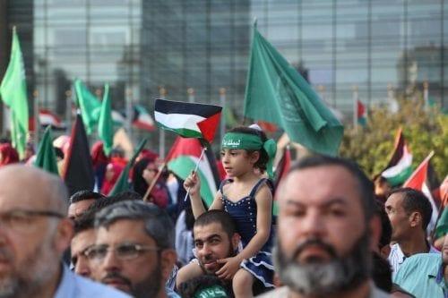 Protestas en Beirut contra la medidas de Israel en Al…