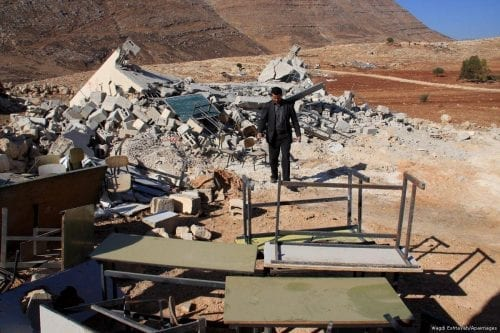Israel destruye la escuela de la comunidad beduina de Jerusalén