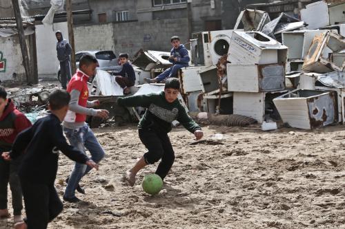 Gaza tras la lluvia