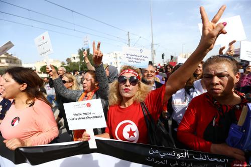 Mujeres tunecinas marchan por la igualdad en el derecho a…