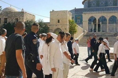 Colonos israelíes irrumpen en Al-Aqsa y exigen su demolición