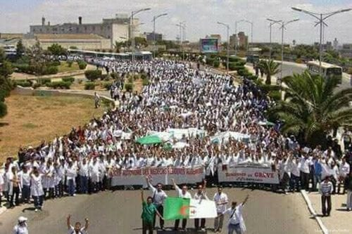 Huelga histórica de personal médico en Argelia
