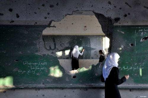 Fuerzas israelíes atacan una escuela palestina cerca de Belén
