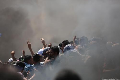 Israel ataca a los manifestantes palestinos