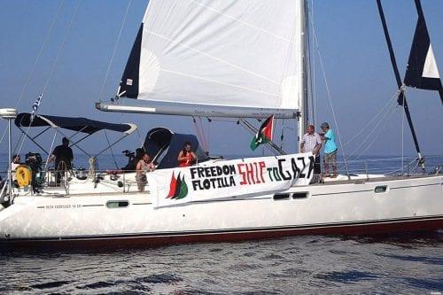 Los barcos de la Flotilla de la Libertad llegan a…