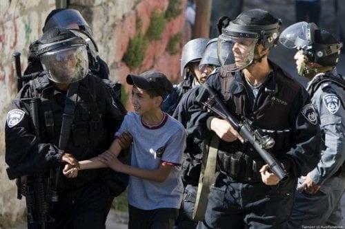 651 menores palestinos detenidos por Israel desde principios de año