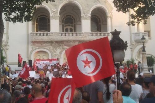 Manifestación en Túnez a favor de la igualdad de género