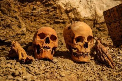 Trabajadores de un cementerio en Egipto venden restos humanos a…