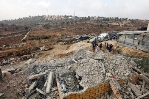 Israel derriba 9 edificios palestinos en Cisjordania