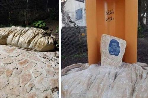 Israel destruye una estatua del novelista palestino Ghassan Kanafani