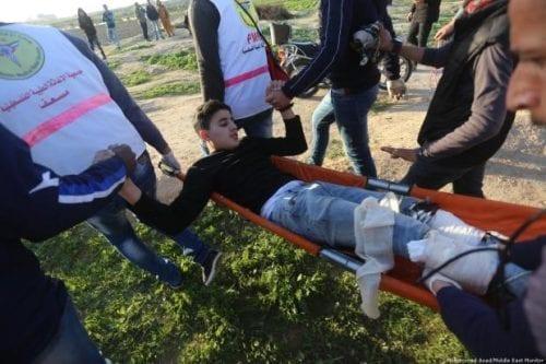 La población palestina de Gaza exige el fin de la…