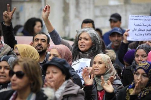 Los estudiantes tunecinos protestan contra la huelga de profesores