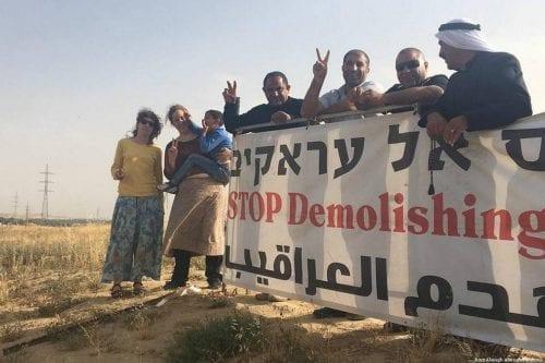 Néguev: irrumpiendo en Al-Araqeeb, demoliendo las casas por 141ª vez