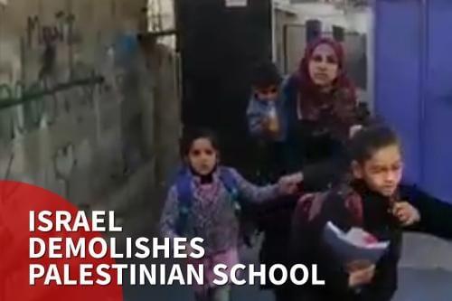 Israel demuele una escuela palestina en Jerusalén