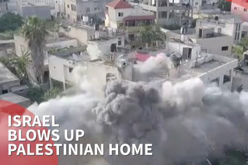 Israel hace estallar el hogar familiar de un palestino asesinado