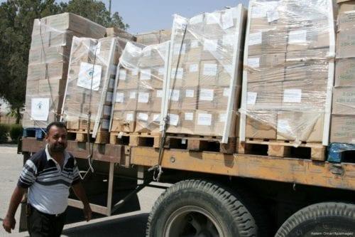 El convoy de ayuda de Jordania entra en Gaza