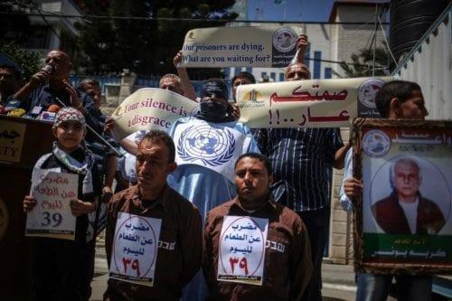 Prisioneros palestinos iniciarán huelga de hambre por sus derechos humanos