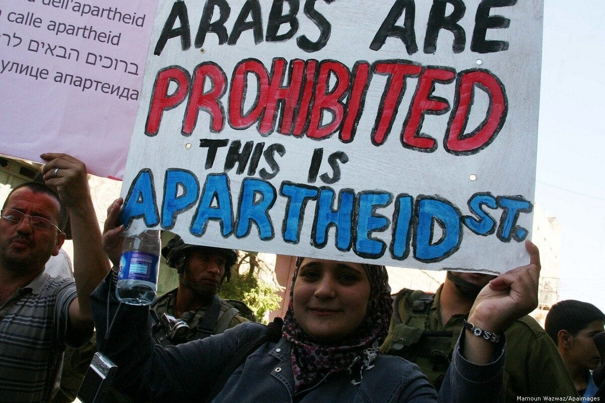 Es hora de hacerlo oficial y marcar a Israel como un estado de apartheid