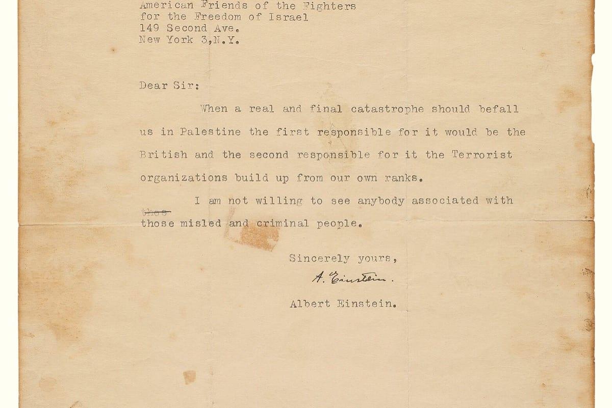 La caída definitiva de Israel fue predecida por Einstein