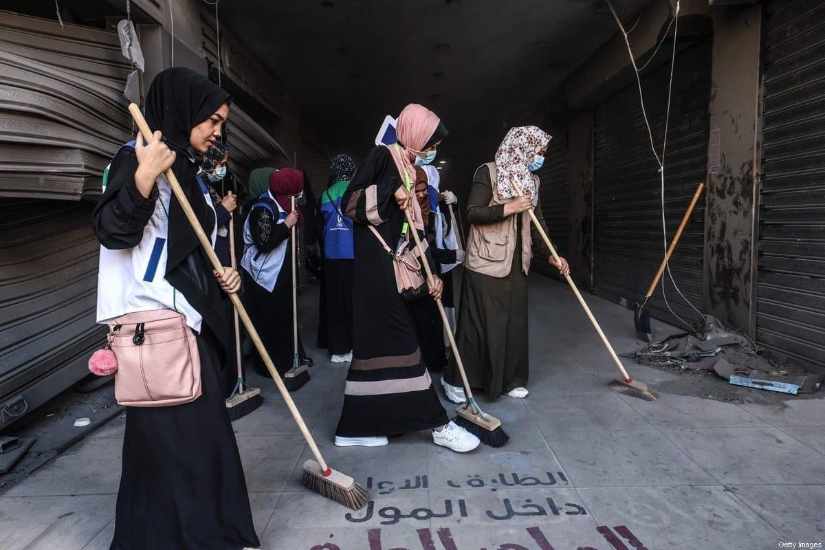 Los palestinos de Gaza están hartos del ciclo de destrucción y reconstrucción