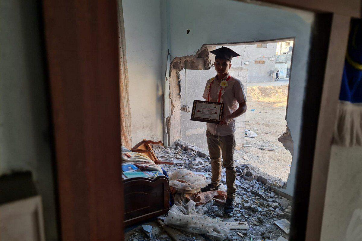 Los estudiantes de Gaza se rebelan tras el intento de Israel de destruir su futuro